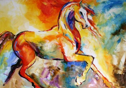 No__80_lightning_contemporary_art_daily_horse_colorful_oil_painting.jpg