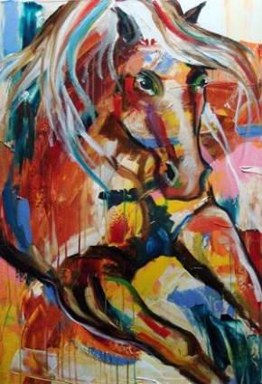 The_advance_contemporary_art_horse_equine_oil_daily_painting_by.jpg